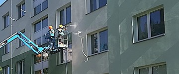 Profesionálne čistenie a impregnácia fasády bytového domu | pemtrade.sk