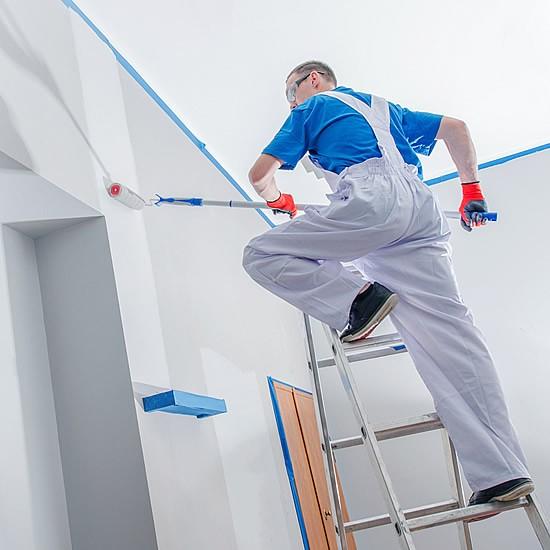 Profesionálne maľovanie interiérov valcovaním