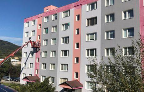 Maľovanie fasády bytového domu